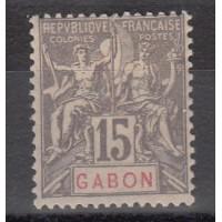 Gabon - numéro 21 - neuf avec charnière