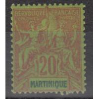 Martinique - numéro 37 - neuf avec charnière