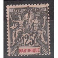 Martinique - numéro 38 - neuf avec charnière