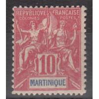 Martinique - numéro 45 - neuf avec charnière