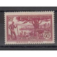 Cote d'Ivoire - numéro 123 - neuf avec charnière