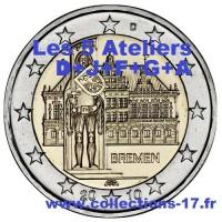 """2 €uros Allemagne 2010 """"A+F+G+J+D"""" (UNC Sortie de Rouleau)"""