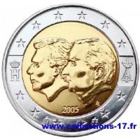 2 €uros Belgique 2005 (UNC Sortie de Rouleau)