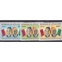 Cote d'Ivoire - numéro 441 à 443 - Neuf sans charnière