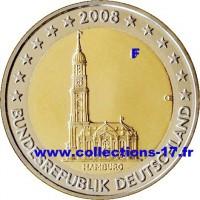"""2 €uros Allemagne 2008 """"F"""" (UNC Sortie de Rouleau)"""