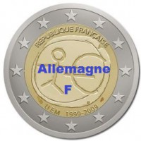 2 €uros 2009 UEM - EMU Allemagne F (UNC Sortie de Rouleau)