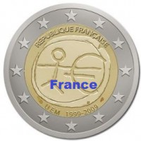 2 €uros 2009 UEM - EMU France