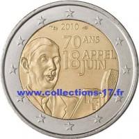 2 €uros France 2010 - (De Gaulle) (UNC Sortie de Rouleau)