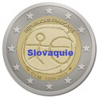 2 €uros 2009 UEM - EMU Slovaquie (UNC Sortie de Rouleau)