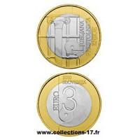 3€ €uros Slovénie 2010 UNC Sortie de Rouleau