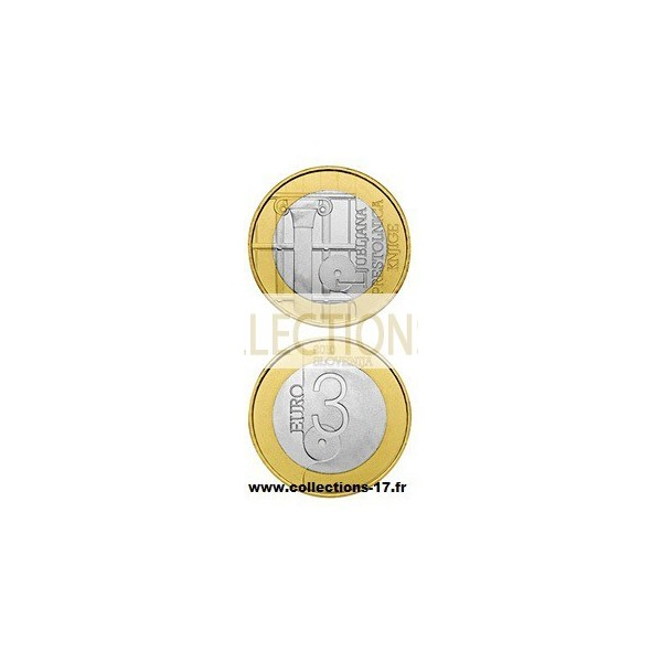 3€ €uros Slovénie 2010