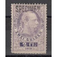 """Autriche - Taxe (1873) """"SPECIMEN"""" numéro 8 - Oblitéré"""