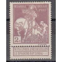 Belgique - numéro 89 - neuf avec charnière