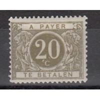Belgique - Taxe - numéro 14 - neuf avec charnière
