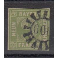 Allemagne - Bavière - numéro 6 - oblitéré