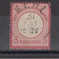 Allemagne - numéro 9  - oblitéré - (coin, voir flèche)