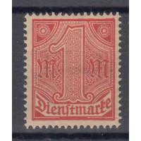 Allemagne - Service numéro 15 - neuf avec charnière