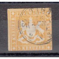 Allemagne - Wurtemberg - numéro 12 - oiblitéré