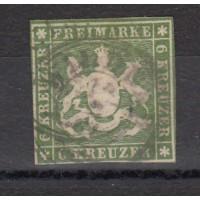 Allemagne - Wurtemberg - numéro 13 - oiblitéré