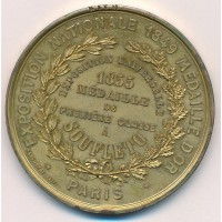 Uniface - Exposition Universelle de 1855 - Médaille de Première Classe à SOUFLETO