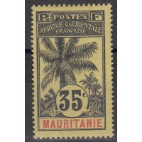 Mauritanie - numéro 9 - neuf avec charnière