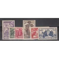Nouvelle Calédonie numéro 166/71 - Neuf avec charnières