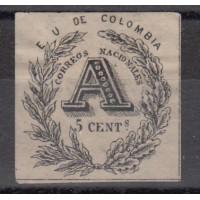 Colombie - numéro 2 lettre chargée - Neuf sans gomme