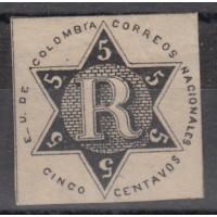 Colombie - numéro 1 lettre chargée - Neuf sans gomme