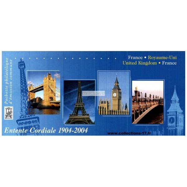 Emission Commune P 3657 - France - Royaume Uni - 2004
