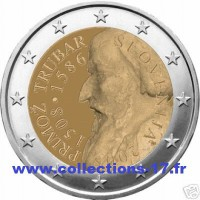 2 €uros Slovénie 2008 (UNC Sortie de Rouleau)