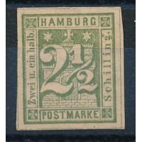 Allemagne - Hambourg - numéro 10 - neuf avec charnière