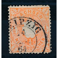 Allemagne Saxe - numéro 14a - oblitéré