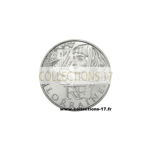 10 €uros France 2012 Lorraine