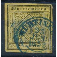 Allemagne - Wurtemberg - numéro 2 - oblitéré