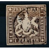 Allemagne - Wurtemberg - numéro 11 - oblitéré