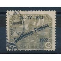 Italie Fiume - numéro 163 - oblitéré