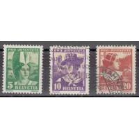 Suisse - numéro 278/80 - Oblitéré
