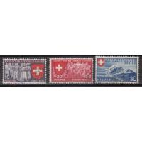 Suisse - numéro 320/22 - Oblitéré