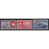 Suisse - numéro 326/28 - Oblitéré