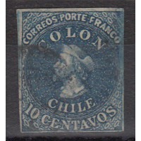 Chili - numéro 9 - oblitéré