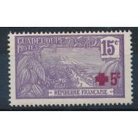 Guadeloupe - numéro 76 - neuf avec charnière