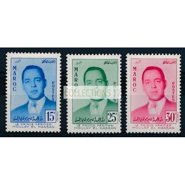 Maroc - numéro 377/79 - neuf avec charnière