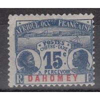 Dahomey - Taxe numéro 3 - Neuf avec charnière