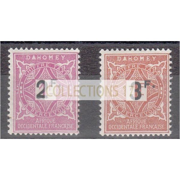 Dahomey - Taxe numéro 17 et 18 - Neuf avec charnière
