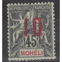 Mohéli - numéro 21A - Neuf avec charnière