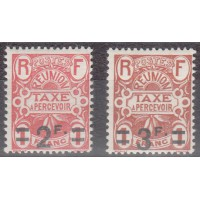 Réunion - Taxe Numéro 14 et 15 - Neuf avec charnière