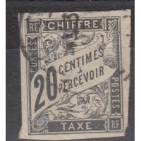 Colonies Françaises - Taxe numéro 8 - oblitéré