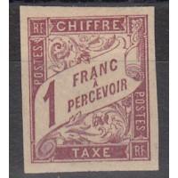Colonies Françaises - Taxe numéro 25 - neuf avec charnière