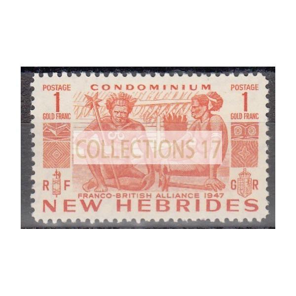 Nouvelles Hébrides - numéro 163 - Neuf sans charnière