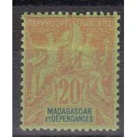Madagascar - numéro 34 - neuf avec charnière